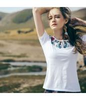 【Tシャツ】カットソー【半袖】刺繍入り【夏物】 rp12826-1