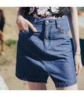 【デニムスカート】タイトスカート【ミニスカート】刺繍入り【夏物】 rp12833-1