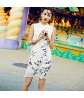 【ミニワンピース】ノースリーブ【タイトワンピース】刺繍入り【夏物】 rp12889-1