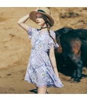 【ミニワンピース】半袖【フレアワンピース】花柄【シフォン】夏物 rp12891-1