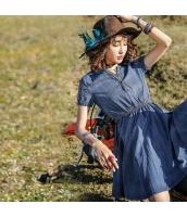 【ミニワンピース】半袖【フレアワンピース】デニムワンピ【刺繍入り】夏物 rp12900-1