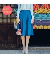 【フレアスカート】膝丈スカート【着やせ】夏物 rp12902-1