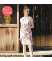 【ミニワンピース】半袖【タイトワンピース】チャイナードレス風【刺繍入り】夏物 rp12903-1