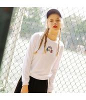 【スウェット】トレーナー【長袖】白【ホワイト】刺繍入り【春物】 rp12931-1