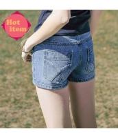 【ジーンズ・デニムパンツ】ショートパンツ・ホットパンツ【青】ブルー【刺繍入り】夏物 rp12935-1