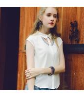 【シャツ】半袖【白】ホワイト【刺繍入り】夏物 rp12938-1