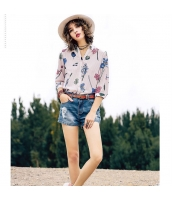 【シャツ】七分袖【マルチカラー】夏物 rp12962-1