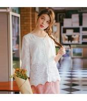 【シャツ】七分袖【レース】白【ホワイト】夏物 rp12987-1