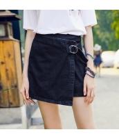 【デニムスカート】ラップスカート【ミニスカート】かわいい【夏物】紺【ネイビー】 rp13054-1