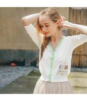 【カーディガン】ニットウェア【七分袖】夏物【白】ホワイト rp13055-1