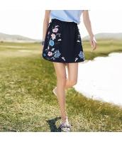 【フレアスカート】ミニスカート【刺繍入り】シフォン【夏物】紺【ネイビー】 rp13070-1