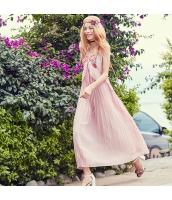 ガーベラ Vネック 刺繍 袖なし スカート シフォン ワンピース rp9090-1