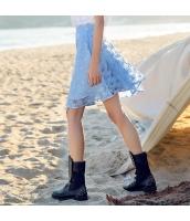 ガーベラ ハイウエスト ジャガード オーガンザ ショートスカート Aライン スカート rp9145-1