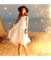 ガーベラ 丸首 刺繍 スカート ショートフリンジ シフォン 袖なし ワンピース rp9220-1