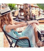 ガーベラ Vネック 貼布刺繍 袖なし スカート フリル シフォン ワンピース rp9232-1