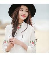 ガーベラレディース シャツ 刺繍 シフォン rp9345-1