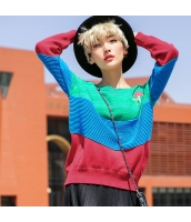 ガーベラレディース Vネック 刺繍 ゆったり ニットウェア セーター rp9431-1