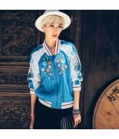 ガーベラレディース カジュアル Vネック 長袖 エスニック調 刺繍 スカジャン スタンドカラージャケット rp9435-1