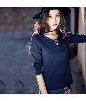 ガーベラレディース 刺繍 ホロー コーデアイテム Tシャツ・カットソー 長袖 rp9492-1
