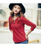 ガーベラレディース 刺繍 ホロー コーデアイテム Tシャツ・カットソー 長袖 rp9492-3