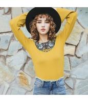 ガーベラレディース 丸首 エスニック 刺繍 コーデアイテム Tシャツ・カットソー 長袖 rp9554-1