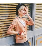 ガーベラレディース Vネック 刺繍 ショート丈 薄手 カーディガン ニット・セーター 長袖 rp9616-3