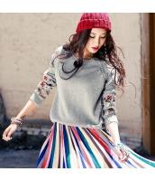 丸首 刺繍 ニットウェア セーター rp9622-1