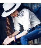 ガーベラレディース 刺繍 ストレート 純綿 コーデアイテム シャツ 長袖 rp9640-1