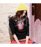 ガーベラレディース 丸首 刺繍入り コーデアイテム ストレート Tシャツ・カットソー 長袖 rp9641-1