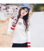 ガーベラレディース 丸首 刺繍 カジュアル 着やせ ニットウェア セーター rp9659-1