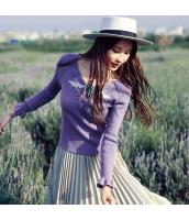 ガーベラレディース Vネック 刺繍 着やせ ニットウェア セーター rp9752-1