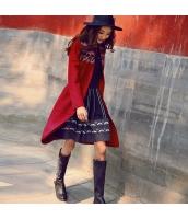 ガーベラレディース Vネック 着やせ 刺繍 ウール フリースコート ミディアム丈 rp9827-1
