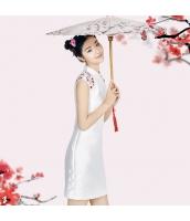 ガーベラレディース スタンドカラー 花柄 刺繍 チャイナードレス 着やせ ミニワンピース 袖なし タイトワンピース ミニドレス スレンダーラインドレス rp9836-1