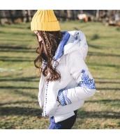 ガーベラレディース フード付き 刺繍 長袖 コーデアイテム ショート丈 ダウンジャケット rp9877-1