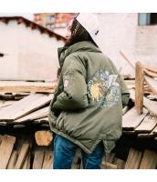 ガーベラレディース スタンドカラー 刺繍 長袖 スリット入り コーデアイテム ショート丈 ダウンジャケット rp9878-1