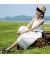 ガーベラレディース 刺繍 ゆったり ひざ下丈 袖なし Aラインワンピース rp9906-1