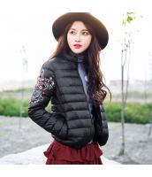 ガーベラレディース スタンドカラー 刺繍 長袖 コーデアイテム 軽やか ショート丈 ダウンジャケット rp9955-1