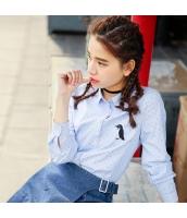 ガーベラレディース 刺繍 ドット・水玉 コーデアイテム ストレート シャツ 長袖 rp9962-1