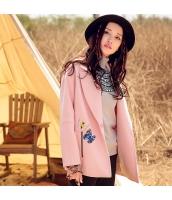 ガーベラレディース 刺繍 ウール ゆったり ドロップショルダー コート フリースジャケット rp9989-1