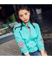 ガーベラレディース エスニック 刺繍 長袖 コーデアイテム スカジャン スタンドカラージャケット rp9992-1