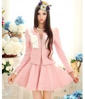 【即納】TK-w0600☆限定品☆お嬢様・ ウールジャケット【カラー:ピンク】【サイズ:L】