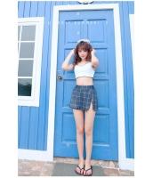 ビキニ水着 タンクトップセット ショーツスカート一体型で露出控える upn17311-1