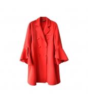ガーベラレディース フリースコート ミディアムコート ワイド袖 w10144-1