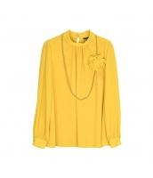 ガーベラレディース ブラウス 長袖 3D花飾り w10228-2