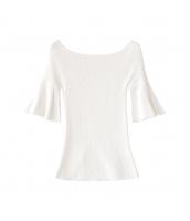 ガーベラレディース ニットウェア セーター 五分袖 ワイド袖 夏物 w10739-1