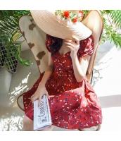 【ミニワンピース】半袖【フレアワンピース】花柄【夏物】 w10947-1