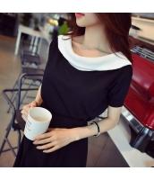 【ニットウェア】セーター【半袖】黒【ブラック】夏物 w11096-1