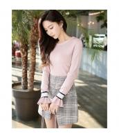 【ニット・セーター】セーター【長袖】着やせ【桃色】ピンク【春物】 w11101-2