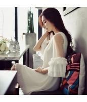 【膝上ワンピース】七分袖丈【Aラインワンピース】ゆったり【白】ホワイト【夏物】 w11181-1