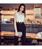 【オールインワン】着やせ【白黒】ホワイト/ブラック【夏物】 w11223-1